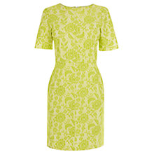 Buy Warehouse Bonded Lace Shift Dress, Lime Online at johnlewis.com