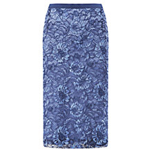 Buy Jigsaw Lace Skirt, Indigo Online at johnlewis.com