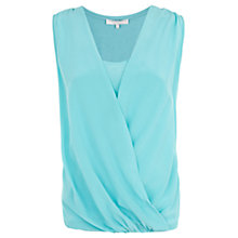 Buy Fenn Wright Manson Megan Silk Front Top, Aqua Blue Online at johnlewis.com