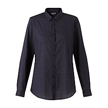 Buy Jigsaw Indigo Ditsy Print Shirt, Navy Online at johnlewis.com