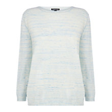 Buy Warehouse Tuck Stitch Front Jumper, Bright Blue Online at johnlewis.com