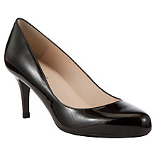 Buy John Lewis Etta Classic Patent Heeled Court Shoes, Black Online at johnlewis.com