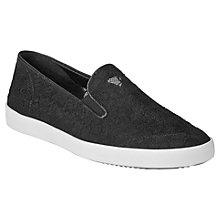 Buy L.K. Bennett Berna Slip On Trainer, Black Lace Online at johnlewis.com