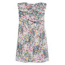 Buy Mango Strapless Dress, Medium Green Online at johnlewis.com