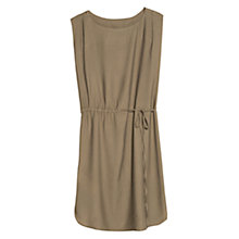 Buy Mango Drawstring Waist Dress, Khaki Online at johnlewis.com