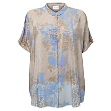 Buy East Agnes Print Silk Shirt, Stone Online at johnlewis.com