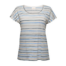 Buy East Regan Stripe T-Shirt, White Online at johnlewis.com