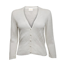 Buy East Eyelet Linen Cardigan, White Online at johnlewis.com