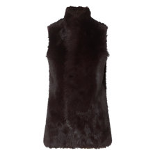 Buy Whistles Sheepskin Gilet Jacket, Black Online at johnlewis.com