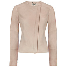 Buy Whistles Nanette Clean Leather Jacket, Neutral Online at johnlewis.com
