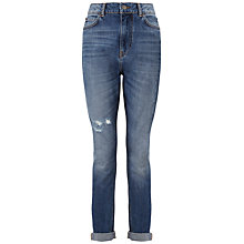 Buy Whistles Tyler Ripped Boyfriend Jeans, Blue Online at johnlewis.com
