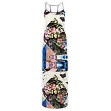 Buy Warehouse Collage Floral Maxi Dress, Multi Online at johnlewis.com