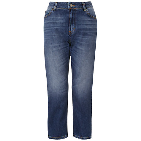 Buy Whistles Tyler Cropped Boyfriend Jeans, Blue Online at johnlewis.com