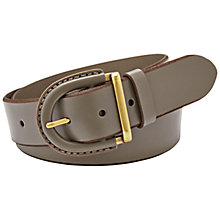 Buy Fossil Leather Covered Buckle Belt, Mushroom Online at johnlewis.com