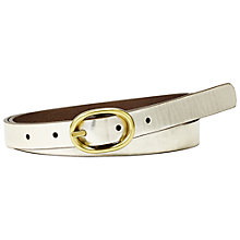 Buy Fossil Skinny Reversible Jean Fit Belt Online at johnlewis.com