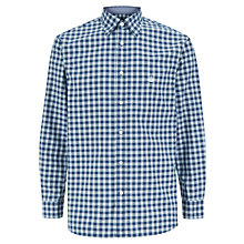 Buy Aquascutum Long Sleeve Check Shirt, Navy Online at johnlewis.com