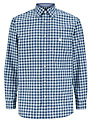 Aquascutum Long Sleeve Check Shirt, Navy