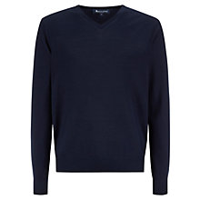 Buy Aquascutum Wentworth V-Neck Jumper, Navy Online at johnlewis.com