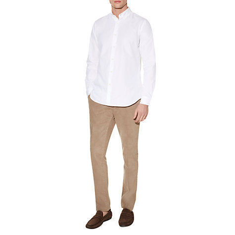 Buy Aquascutum Landor Long Sleeve Shirt, White Online at johnlewis.com