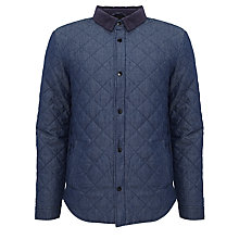 Buy Barbour Mined Cotton Twill Overshirt Jacket, Rinse & Resin Online at johnlewis.com