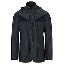Buy Barbour International Dept. B Vertically Quilted Wax Jacket, Navy Online at johnlewis.com