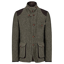 Buy Barbour Beacon Wool Sports Jacket, Dark Green Online at johnlewis.com