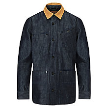 Buy Barbour International Miller Denim Work Jacket, Rinse Online at johnlewis.com