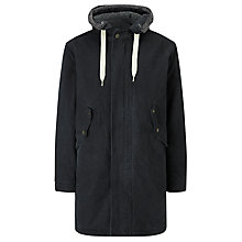 Buy Barbour Canvas Parka Hooded Jacket, Navy Online at johnlewis.com