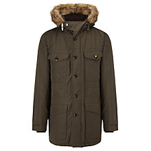 Buy Barbour Dept B Propulsion Parka Jacket, Olive Online at johnlewis.com