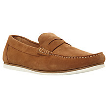 Buy Dune Brightly Slip-On Suede Penny Loafers Online at johnlewis.com