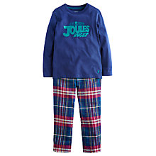 Buy Little Joule Chantry Check Pyjamas, Navy/Multi Online at johnlewis.com