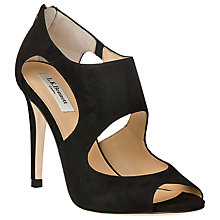 Buy L.K. Bennett Alma High Stiletto Heel Leather Sandals, Black Online at johnlewis.com