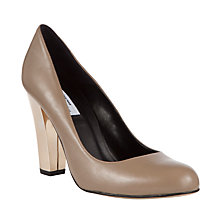 Buy COLLECTION by John Lewis Fior Leather Metallic Heel Court Shoes Online at johnlewis.com