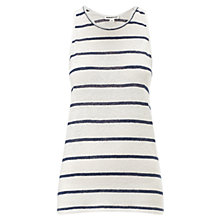 Buy Whistles Stripe Linen Vest, White/Blue Online at johnlewis.com