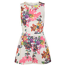 Buy Miss Selfridge Floral Trim Playsuit, Multi Online at johnlewis.com