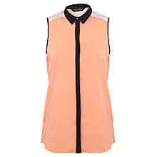Buy Miss Selfridge Sleeveless Colour-Block Shirt, Multi Online at johnlewis.com