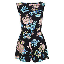 Buy Miss Selfridge Floral Playsuit, Black/Multi Online at johnlewis.com