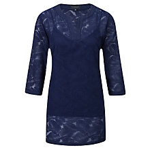 Buy Viyella Burnout Tunic Dress, Midnight Online at johnlewis.com