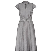 Buy Hobbs Dainty Dress, Dark Grey Melange Online at johnlewis.com