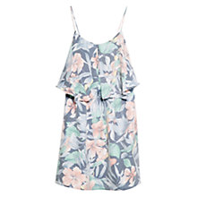Buy Mango Ruffled Tropical Dress, Navy Online at johnlewis.com