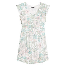 Buy Mango Tropical Print Dress, Light Pastel Pink Online at johnlewis.com