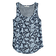 Buy Mango Flower Denim Top, Navy Online at johnlewis.com