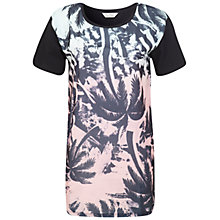 Buy Miss Selfridge Palm Print Tunic, Black/Multi Online at johnlewis.com