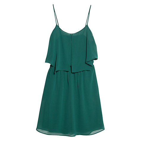 Buy Mango Ruffled Chiffon Dress, Medium Green Online at johnlewis.com