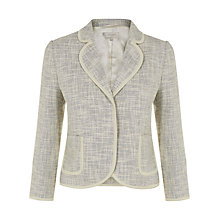 Buy Hobbs Palma Blazer, White/Black Online at johnlewis.com