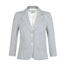 Buy Hobbs Regent Jacket, Ivory/Navy Online at johnlewis.com