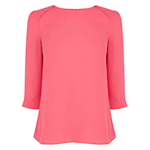 Buy Oasis Drape Sleeve Top, Multi Pink Online at johnlewis.com