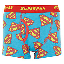 Buy John Lewis Boy Superman Trunks, Pack of 2, Blue Online at johnlewis.com