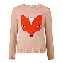 Buy Donna Wilson for John Lewis Fox Knit Jumper, Peach Online at johnlewis.com