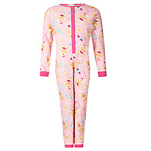 Buy John Lewis Girl Gingerbread Lady Jersey Onesie, Pink Online at johnlewis.com